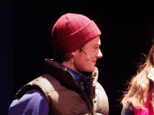 "Rob Battle as Pete in the opening scene of ""Almost, Maine."""