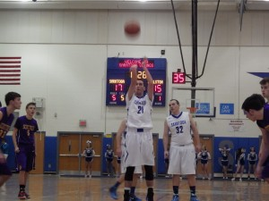 Saratoga's Sean Grecco makes a free throw shot during Tuesday's game.