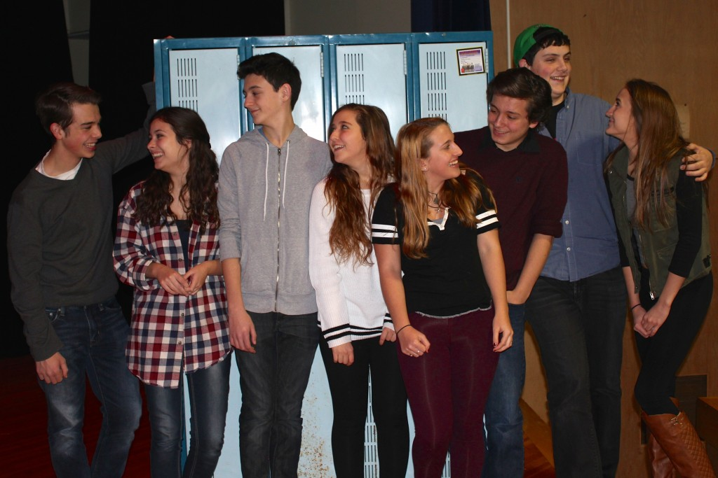 "Pictured in this provided photo is the cast of ""Calvin Berger,"" left to right: Noah Casner (Matt), Carolyn Shields (Rosanna), Liam McKenna (Calvin), Alyssa D'Angelo (Bret).  Understudies are Samantha Casner, Matthew Boyce, Conan Madigan and Izabel Cavotta."