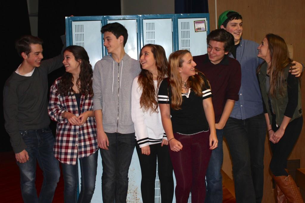"Pictured in this provided photo is the cast of ""Calvin Berger,"" left to right: Noah Casner (Matt), Carolyn Shields (Rosanna), Liam McKenna (Calvin), Alyssa D'Angelo (Bret).  Understudies are Samantha Casner, Matthew Boyce, Conan Madigan and Izabel Cavotta."