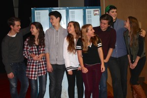 "Pictured in this provided photo is the cast of ""Calvin Berger,"" left to right: Noah Casner (Matt), Carolyn Shields (Rosanna), Liam McKenna (Calvin), and Alyssa D'Angelo (Bret).  Understudies are Samantha Casner, Matthew Boyce, Conan Madigan and Izabel Cavotta."