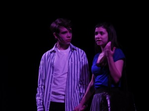 "Noah Casner and Carolyn Shields as Matt and Rosanna in ""Calvin Berger.""Eli Fisher / The Lightning Rod"