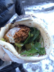 A wrap from Falafel Den.Serena Egan for The Lightning Rod