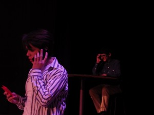 "Noah Casner as Matt, in the foreground, converses with Liam McKenna as Calvin in ""Calvin Berger.""Eli Fisher / The Lightning Rod"