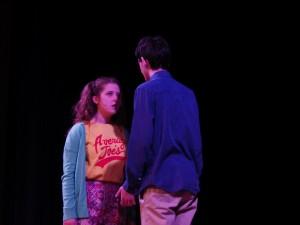 "Alyssa D'Angelo as Bret, left, and Liam McKenna as Calvin in ""Calvin Berger."" Eli Fisher / The Lightning Rod"