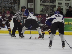 A faceoff during the second period.