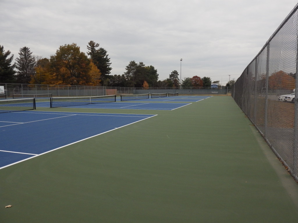 The new tennis courts at the high school. Eli Fisher / The Lightning Rod