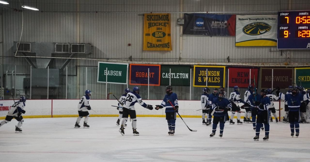 Hockey: Blue Streaks Defeat ADK Rivermen (Photo Gallery)