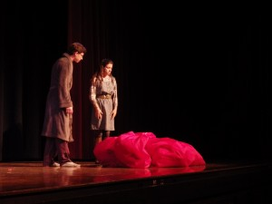 "Josiah Martuscello, left, as Lendall and Carolyn Shields as Gayle in ""Almost, Maine."""