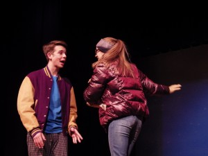 "Noah Casner, left, and Izabel Cavotta as Easton and Glory in ""Almost, Maine."""