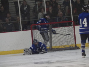 La Salle goalie Zach Hurst '16 reaches out for a save during the Saturday game against Saratoga.