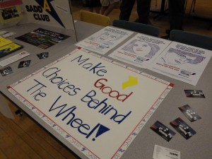 Part of the SADD Club/Toga True display at the night of Inclusion.