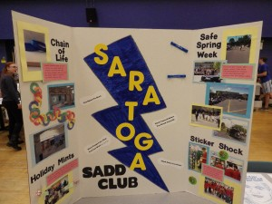 A SADD Club display at the Night of Inclusion.
