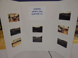 Photos from Unified Sports on display at the Night of Inclusion.