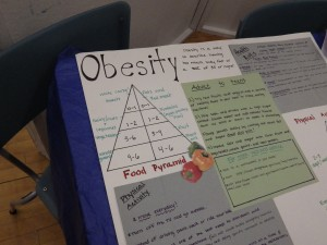 A display on obesity at the Night of Inclusion.