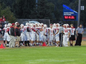 The Dutchmen before the game Friday.