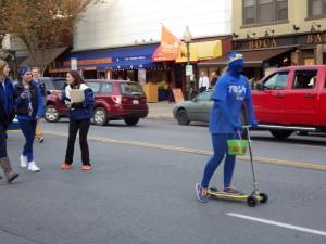Seniors make their way down Broadway during the parade.