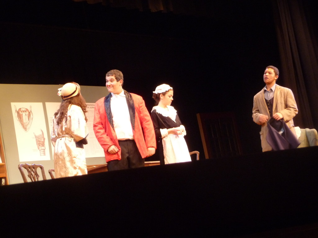 Cast members of Pygmalion during a dress rehearsal Wednesday.